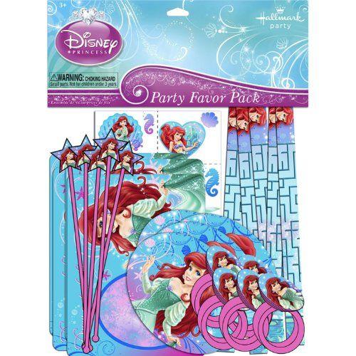 Disney/'s Little Mermaid Sparkle Blowout Favors Princess Party Supplies