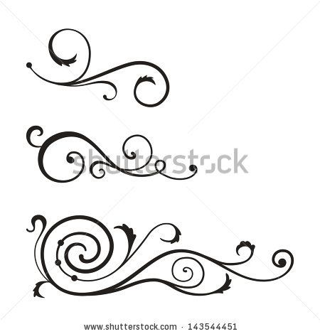 vector swirl elements for design stock vector templates