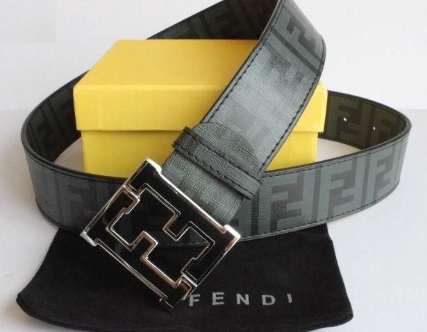 FF logo embroidered belt - White Fendi ksWKFH4