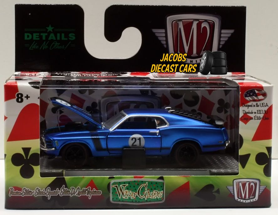 1 64 M2 Machines Wild Cards Wc05 1970 Ford Mustang Boss 302 M2machines Ford Ford Mustang Boss 302 1970 Ford Mustang Mustang Boss 302