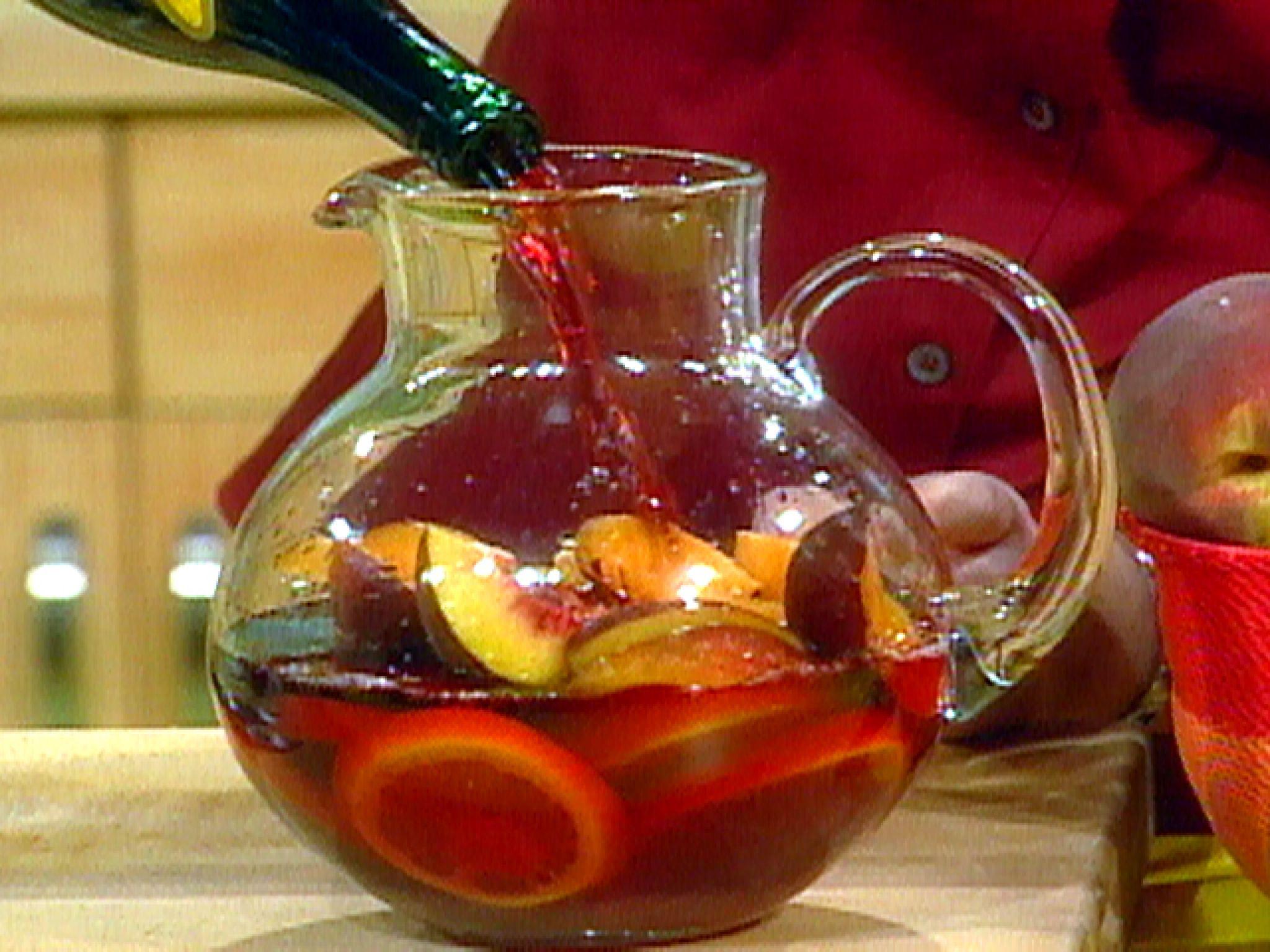 Sunset Sangria Recipe Sangria Recipes Food Network Recipes Sangria