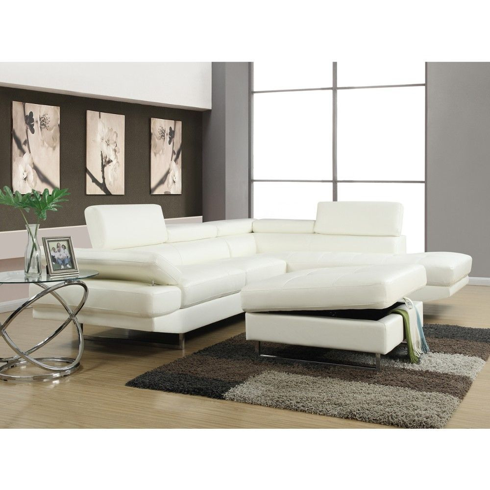 Saturn Living Room - LAF Sofa, RAF Chaise & Ottoman - Sectional ...