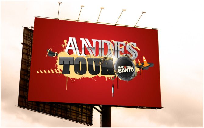Andes Tour Poster | Tour/TvShow of Karamelo Santo through Europe, sponsored by Andes Beer. | Designer: Andres Celesia | Image 2 of 2