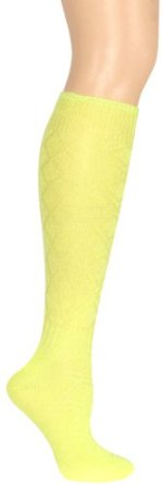 Capelli New York Solid Knee High With Flaired Cuff And Ribbed Ankle Detail Yellow Capelli New York. $5.95