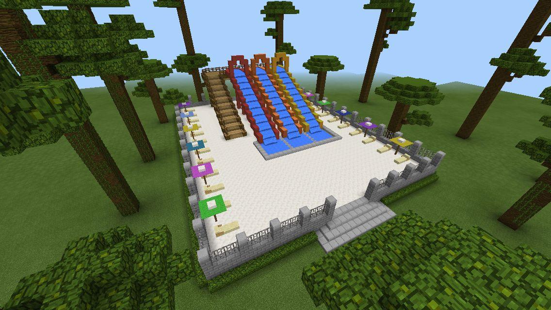 Water Park Minecraft Garden Water Park Minecraft