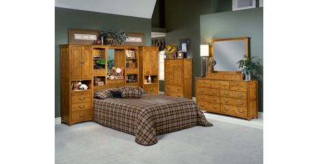 Calypso Oak King Pier Wall Unit Bed With Storage Bernie And