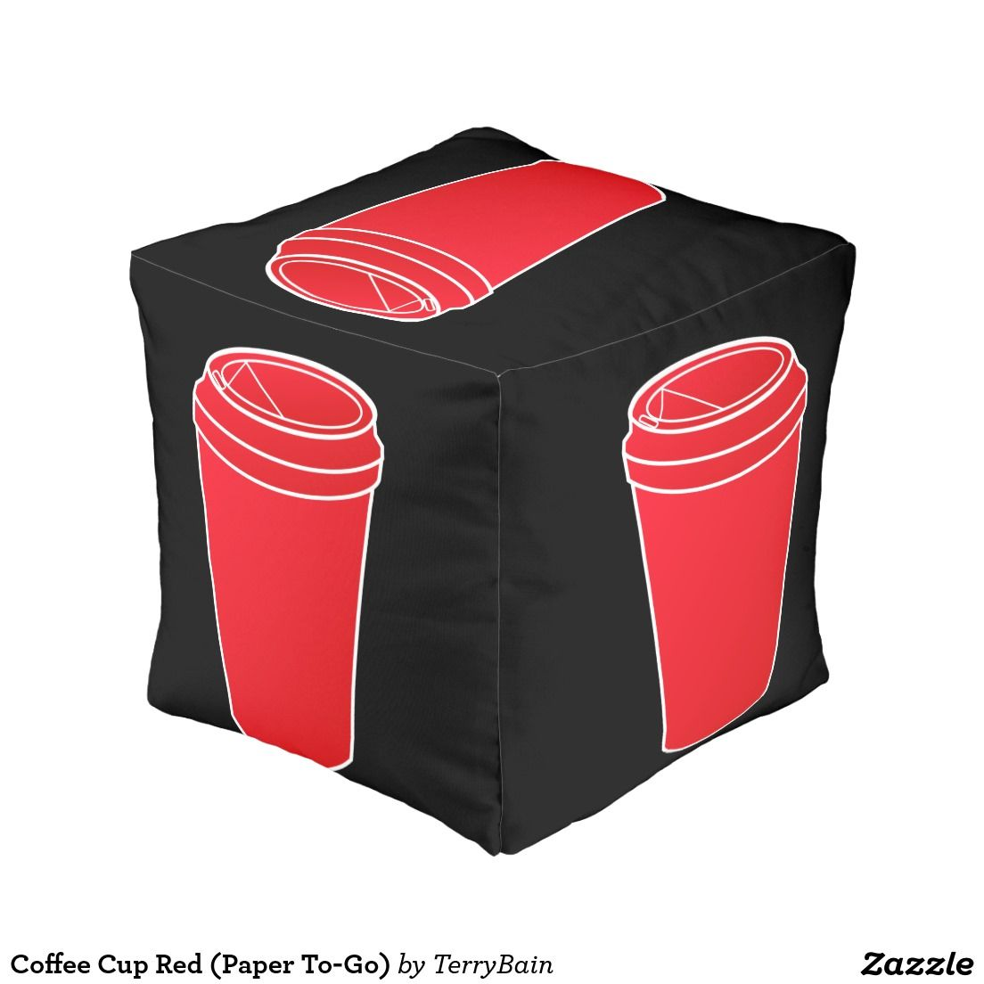 Coffee Cup Red (Paper To-Go) Pouf | Stuff SOLD on Zazzle | Pinterest ...