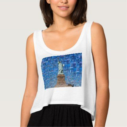 statue of liberty collage - statue of liberty art tank top - american travel gifts giftideas traveller america