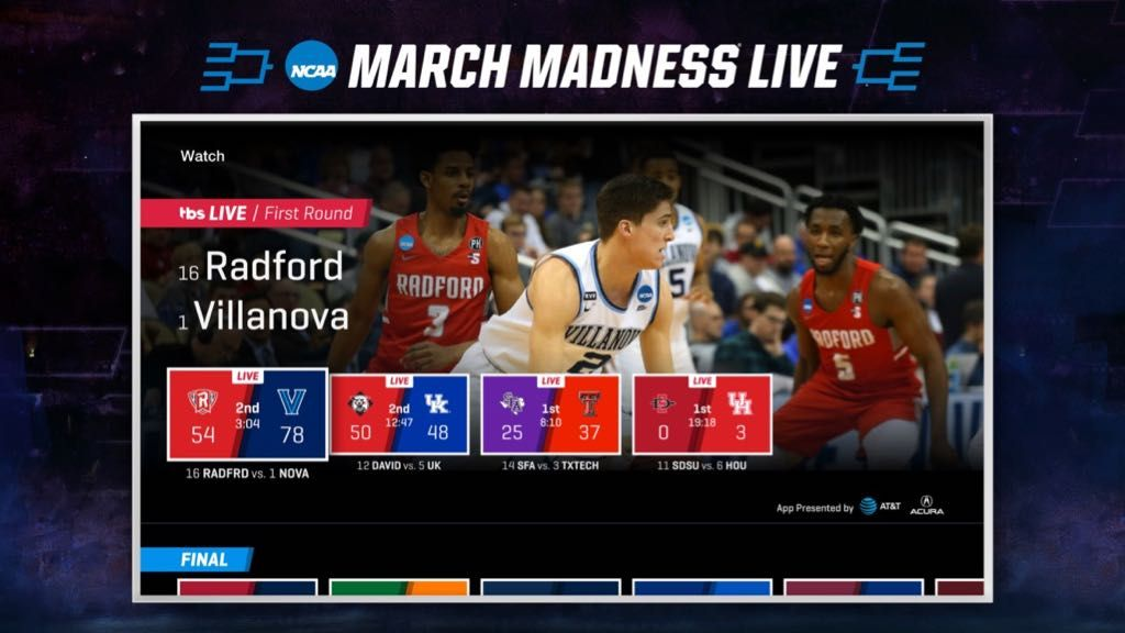 March Madness Live To Reach A Record 17 Platforms This Year Including Apple Watch Oculus Go Echo Devices Apple Tv Live Tv Streaming Amazon Fire Tv