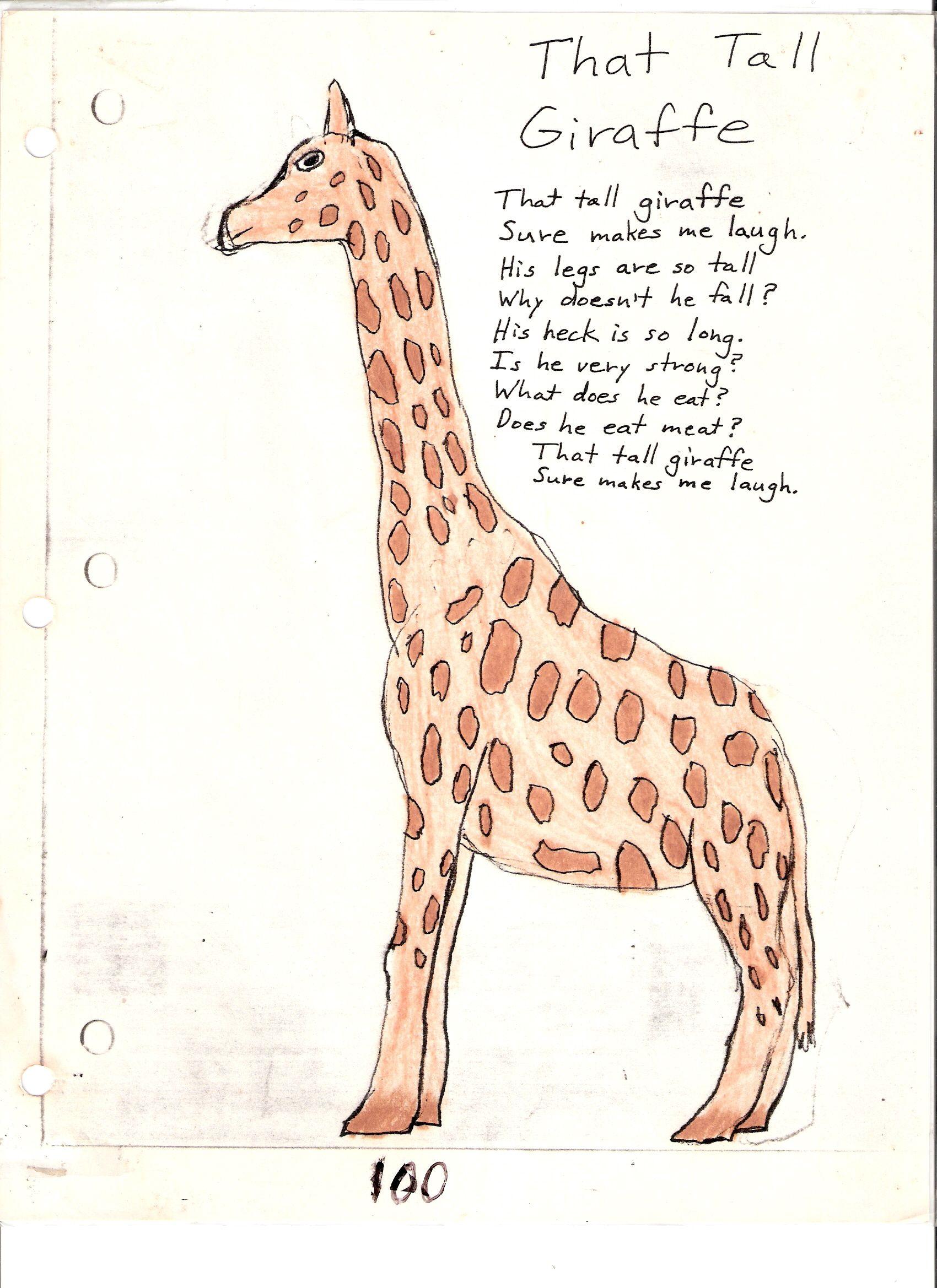 giraffe acrostic poem