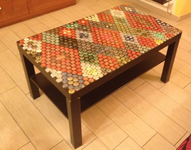 Remarkable Beer Caps Table Top Furniture And Color Beer Cap Table Alphanode Cool Chair Designs And Ideas Alphanodeonline