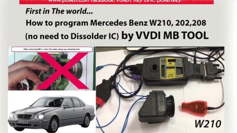 How Vvdi Mb Tool Program Mercedes W202 208 210 When All Key Lost