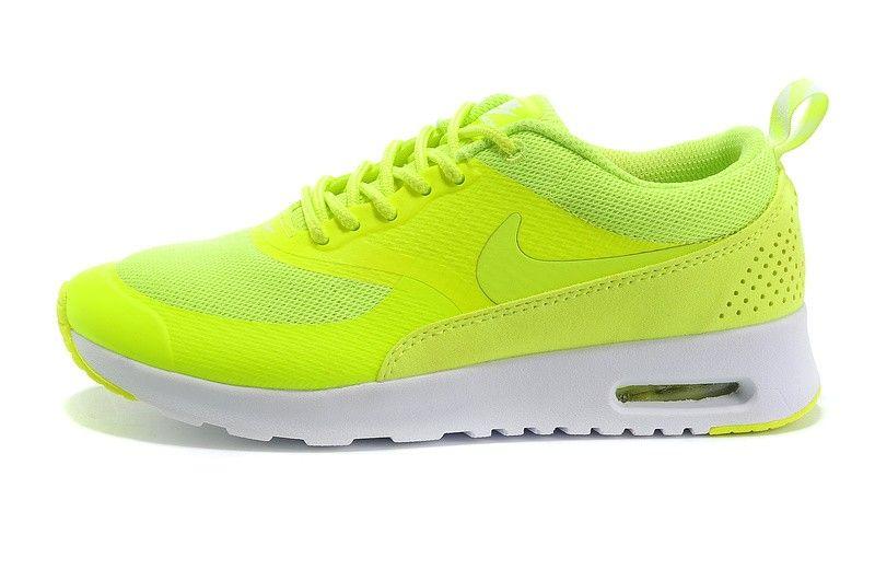 online store 0b12f 53a1a 50% sconto donna nike air max thea fluorescente verde bianche scarpe da  ginnastica online saldi scontate