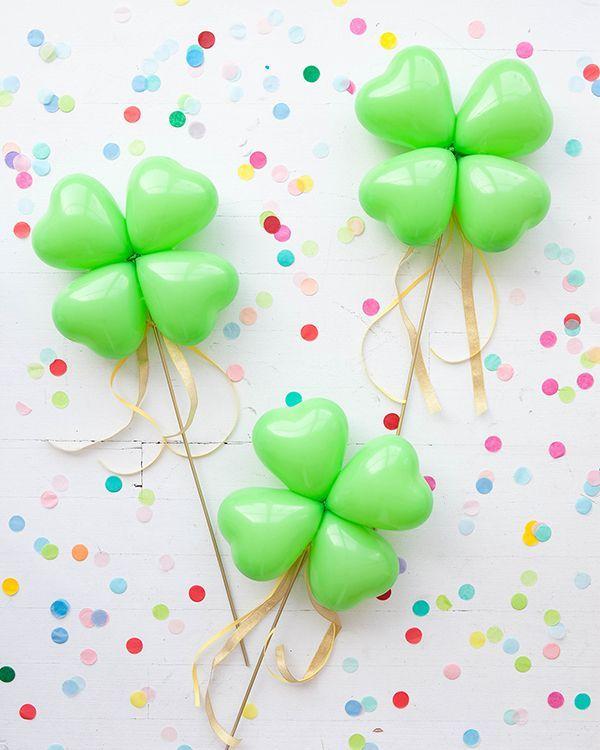 4-Leaf Clover Balloon Sticks DIY | Oh Happy Day! | Bloglovin'