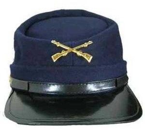 Civil War Union Army  Kepi Cap Costume Hat Assorted Sizes Forage Cap