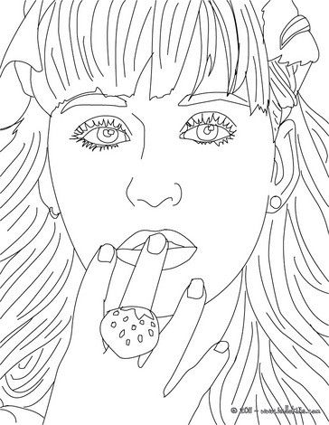 Katy Perry Close Up Coloring Page More Famous People Coloring