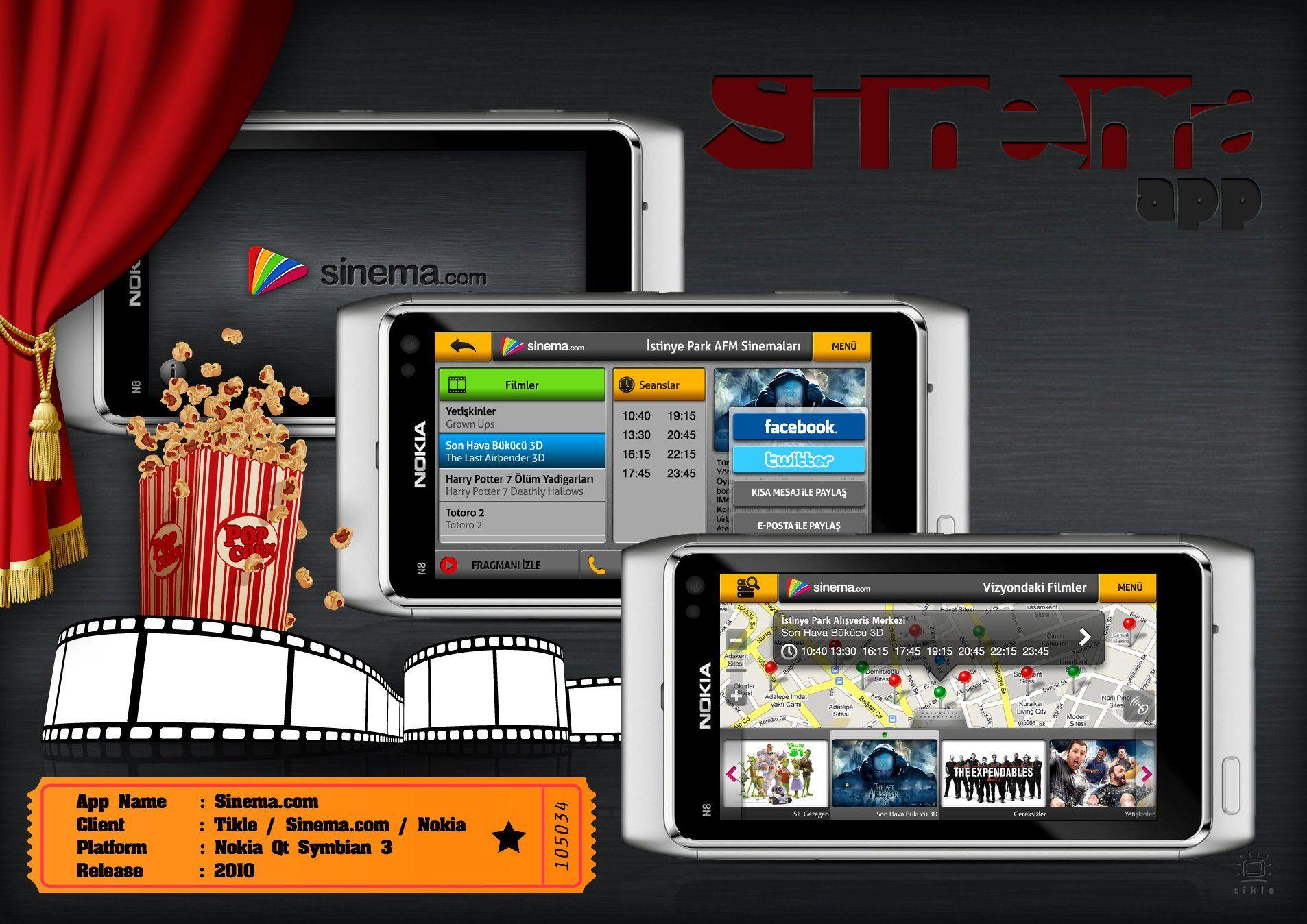 Sinema.com Nokia Qt Application
