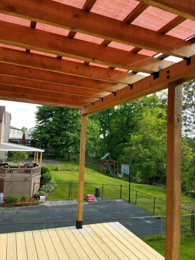 Build My Own For The Swingset How To A Pergola On An Existing Deck That Will Stay Strong And Beautiful Years
