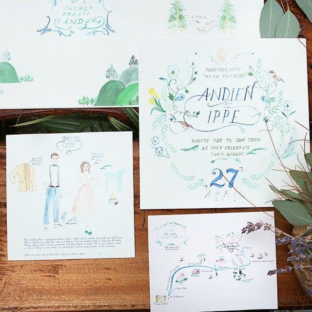 Andien Ippes Wedding Invitation