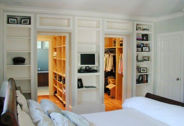pass through master closet to bath  master bedroom closet