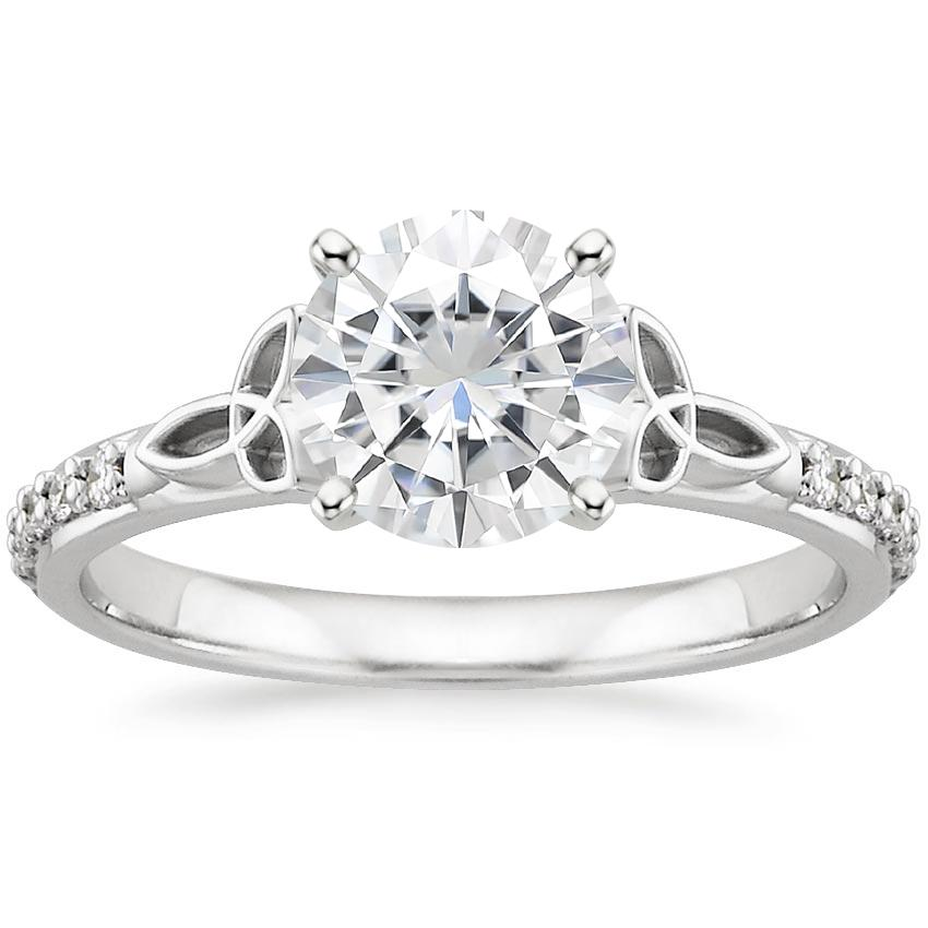 Luxe Celtic Love Knot Moissanite Engagement Ring