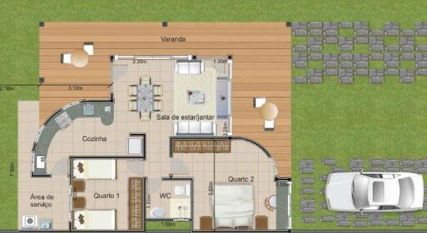 Dise o para una casa de 10 x 10 metros cuadrados planos for Diseno de apartamento de 4x8 mts