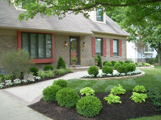 Low maintenance front yard landscaping landscape for Easy gardens to maintain