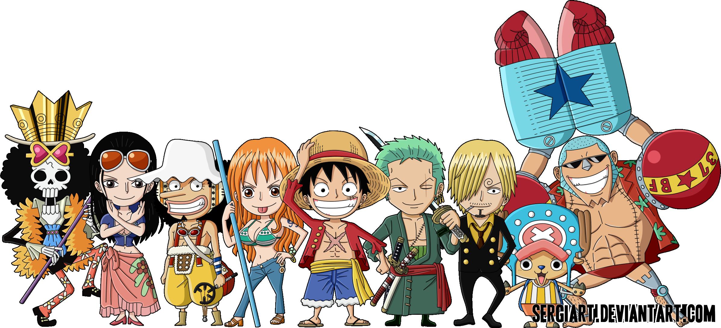 Chibi Straw Hat Pirates By Sergiart On Deviantart Chibi Wallpaper Anime Chibi Chibi