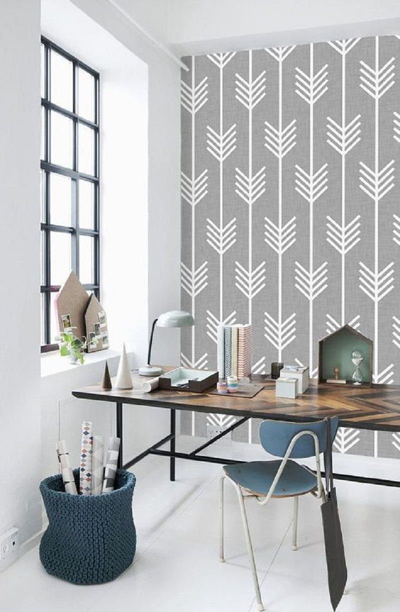 Best 8 Eye Catching Rooms With Geometric Wallpaper To Inspire 400 x 300