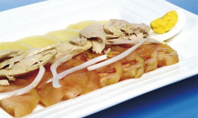 Receta De Ensalada De Patata Huevo Tomate Y Atún Karlos Arguiñano Recetas De Ensalada De Patata Recetas De Comida Ensalada De Patatas