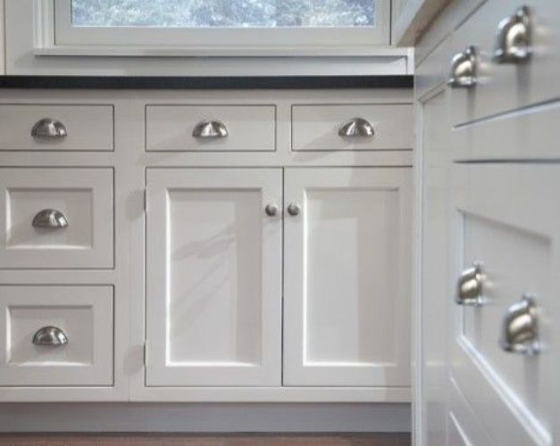 Brushed Nickel Kitchen Cabinet Pull Cup Kitchen Cabinet Pull