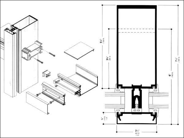 Mullion Detail Section Architectural Structural Details