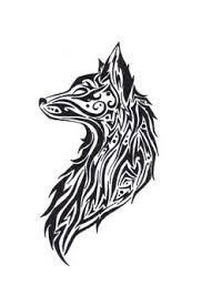 Bildergebnis Fur Wolf Drawing Abstract Tribal Fox Tribal
