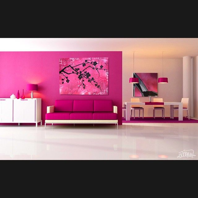 Pinky living room Double tap if you think this living room looks ...