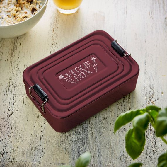 Aluminium Lunchbox Beautifully Etched Veggie