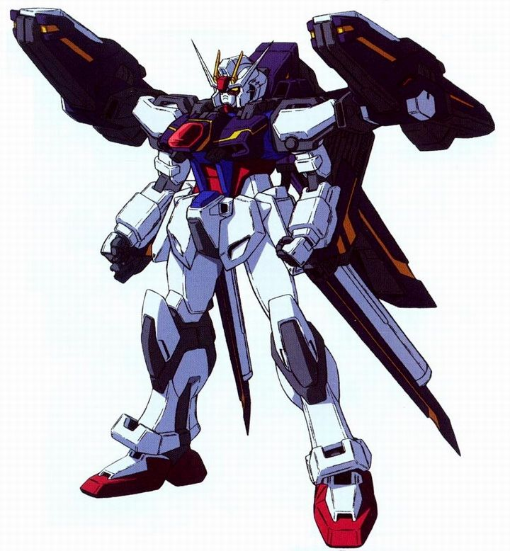 GAT-X105+P204QX Lightning Strike Gundam is one of the six prototype variants of the GAT-X105 Strike Gundam developed by the Morgenroete, Inc at Heliopolis. The unit is featured in the original design series SEED-MSV and is piloted by Mu La Flaga.