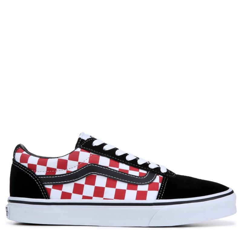 Vans Men's Ward Low Top Sneakers (CheckerboardRed) in 2020