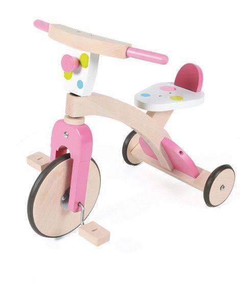 Tricicleta Din Lemn Roz Juguetes De Madera Juguetes Disenos De Unas