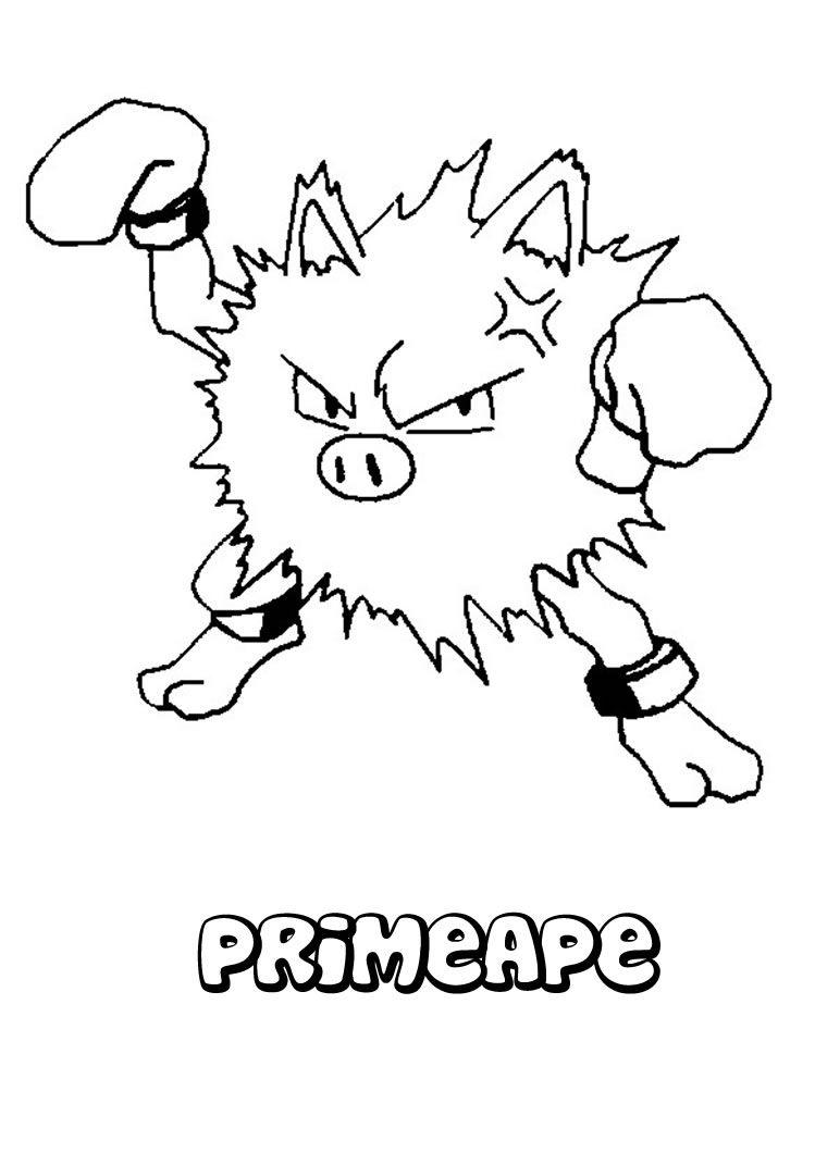 Primeape pokemon coloring page pokémonpokémon go pinterest