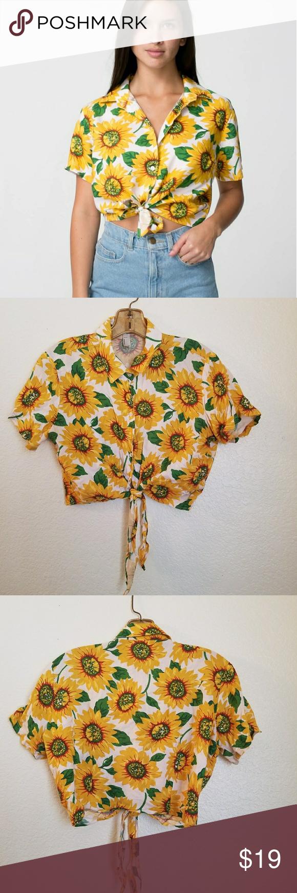 American Apparel sunflower shirt | American apparel ...