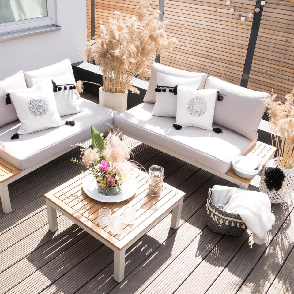 Lounge Element Malibu 2 Sitzer Mit Auflagen Grau Danisches Bettenlager In 2020 Garten Lounge Garten Lounge Set Lounge