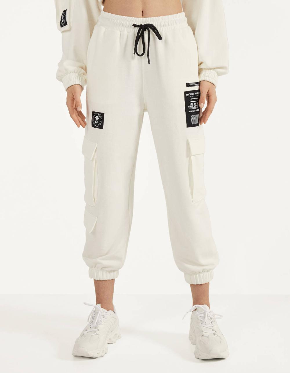 Pantalon Wide Leg Best Sellers Bershka Espana Trousers Women Sweatpants Comfortable Sweater