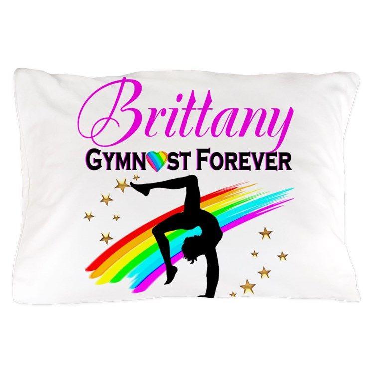 GREAT GYMNAST Pillow CaseInspiring Gymnastics bedroom décor.  #Gymnastics #Gymnast #WomensGymnastics #Personalizedgymnast #Ilovegymnastics #Gymnastics décor
