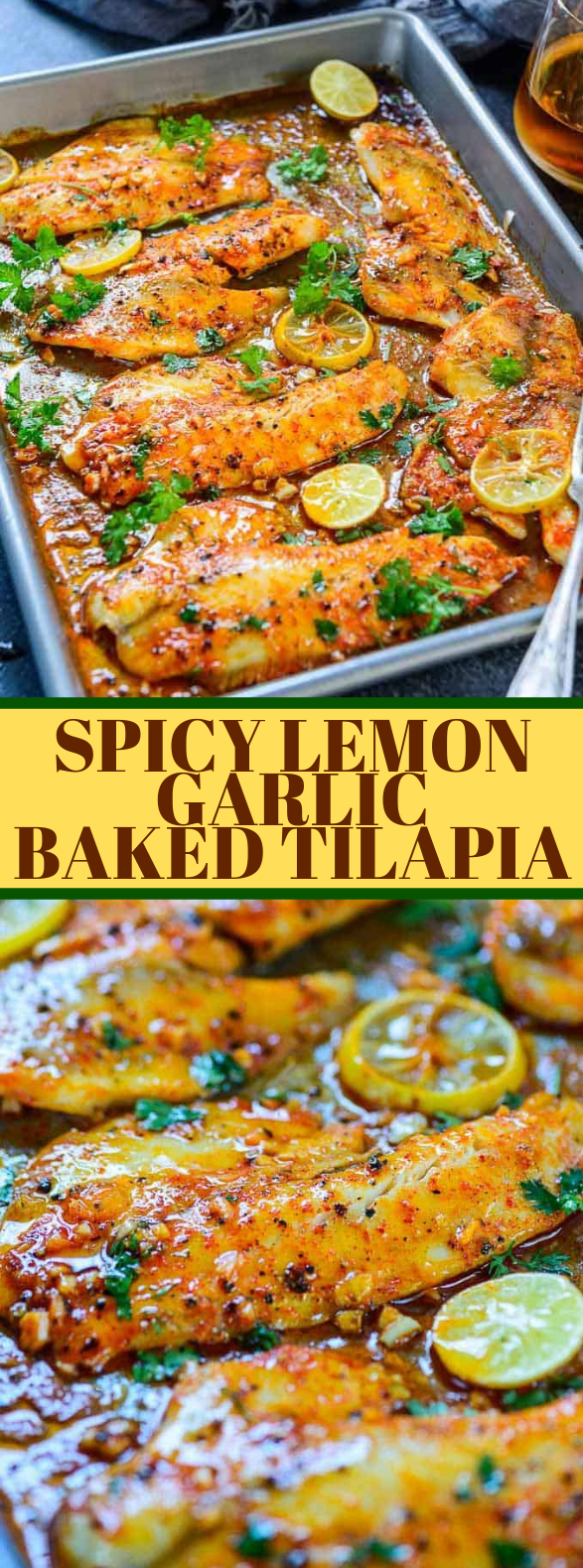 Photo of Spicy Lemon Garlic Baked Tilapia #dinner #heartymeal