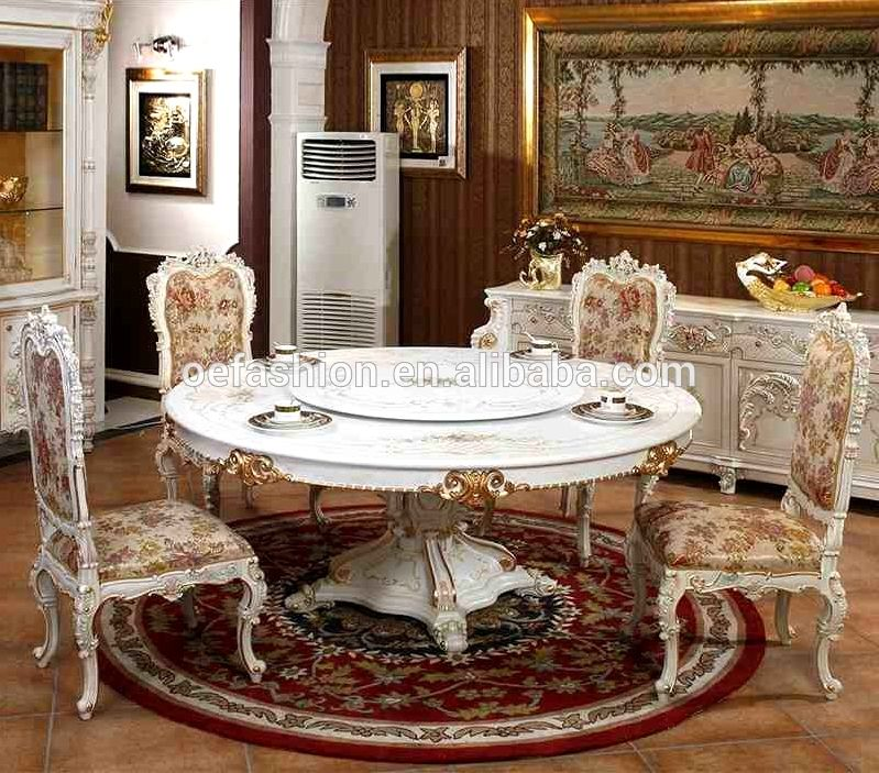 OE-FASHION luxury white dining tables chair sets used round banquet tables  for sale 43132f626122