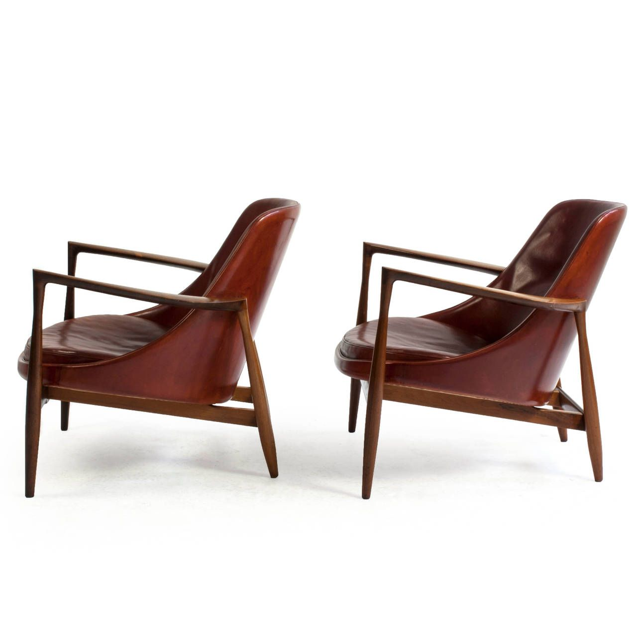This sculptural pair of lounge chairs by ib kofod larsen is no longer - Pair Of Rosewood Ib Kofod Larsen Elizabeth Chairs