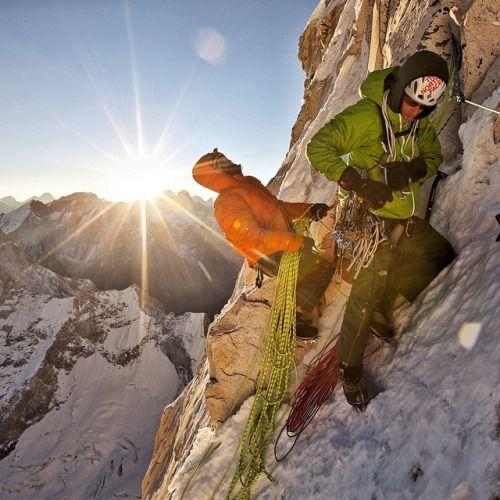 — Ride n shine! Nothing like a few alpine ice...