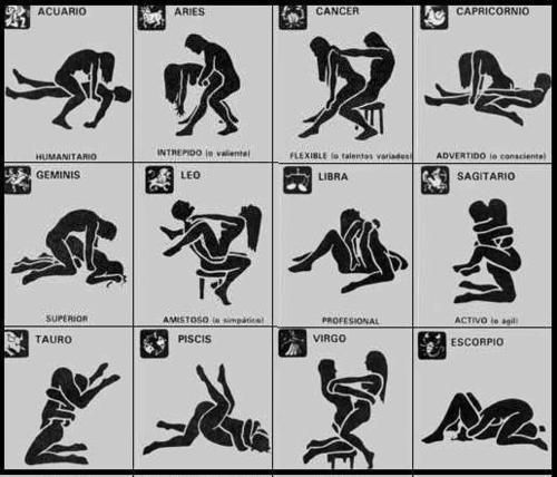 Sex position by the zodiac