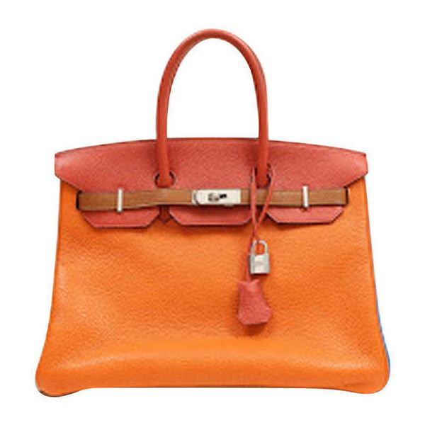 0eb55b0cdf8a Preowned Hermes Arlequin Clemence Leather 6 Color 35 Cm Birkin (159.690  BRL) ❤ liked