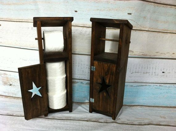 rustic toilet paper holder with storage by. Black Bedroom Furniture Sets. Home Design Ideas